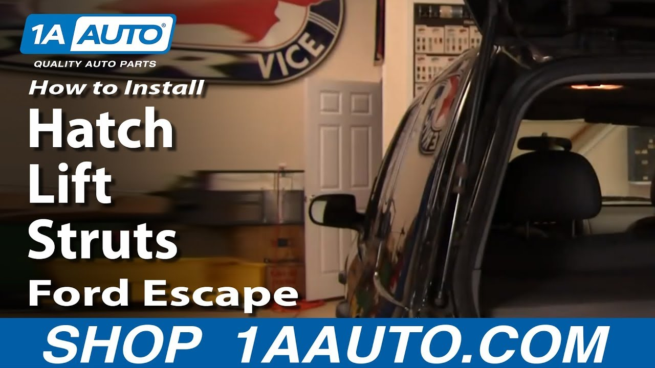 How To Replace Hatch Lift Struts 01-07 Ford Escape