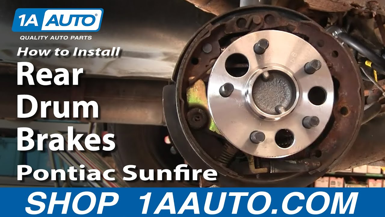 How to Replace Brake Drum 95-02 Pontiac Sunfire