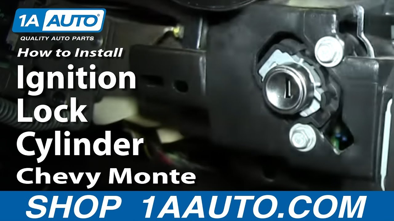 How to Replace Ignition Lock Cylinder 00-05 Chevy Monte Carlo
