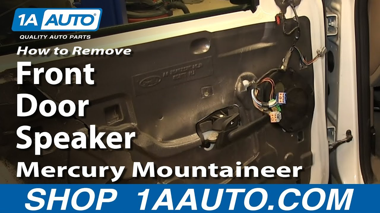How To Remove Front Door Speaker 02-05 Mercury Mountaineer
