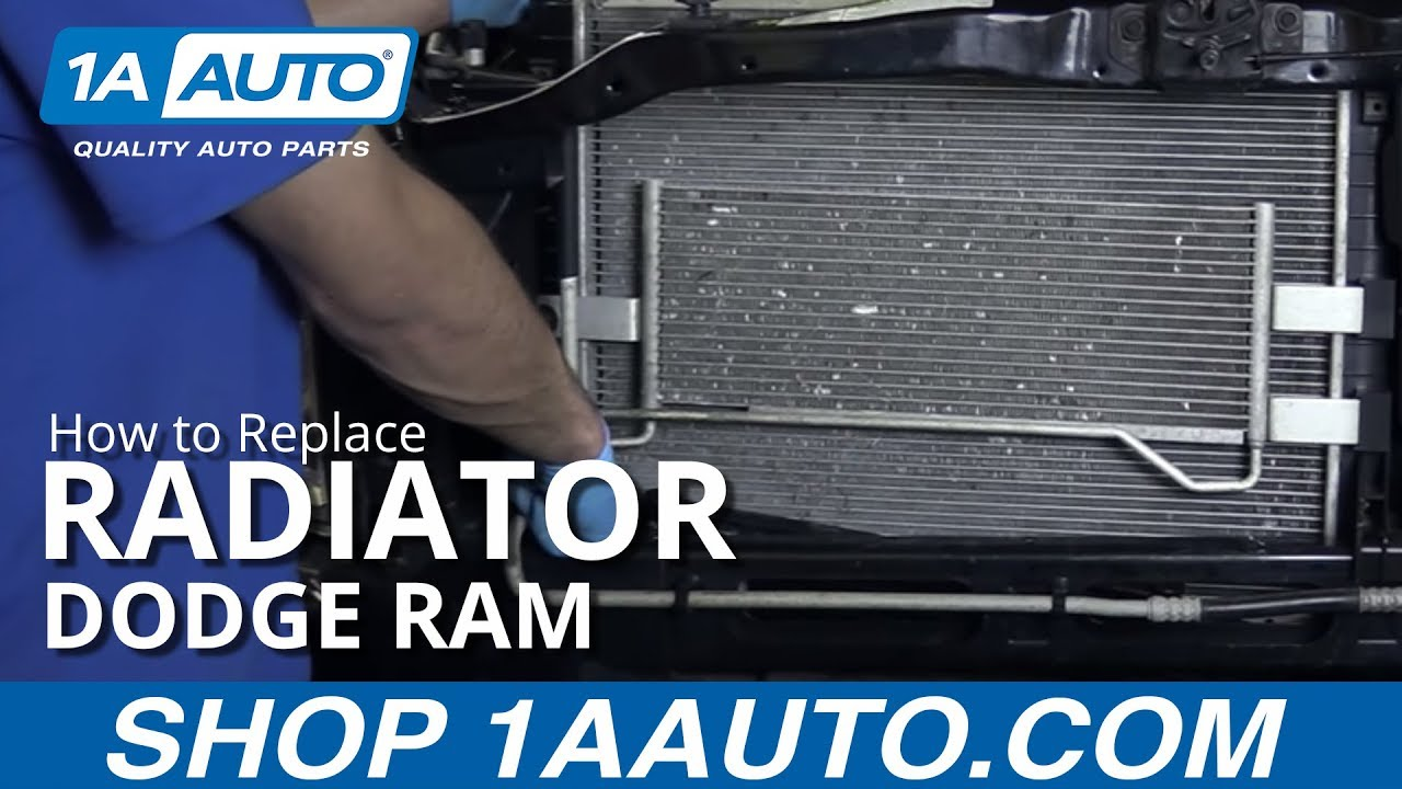 How to Replace Radiator 04-08 Dodge Ram