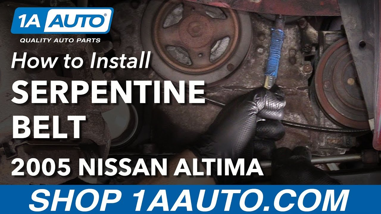 How to Replace Serpentine Drive Belt 0206    Nissan       Altima