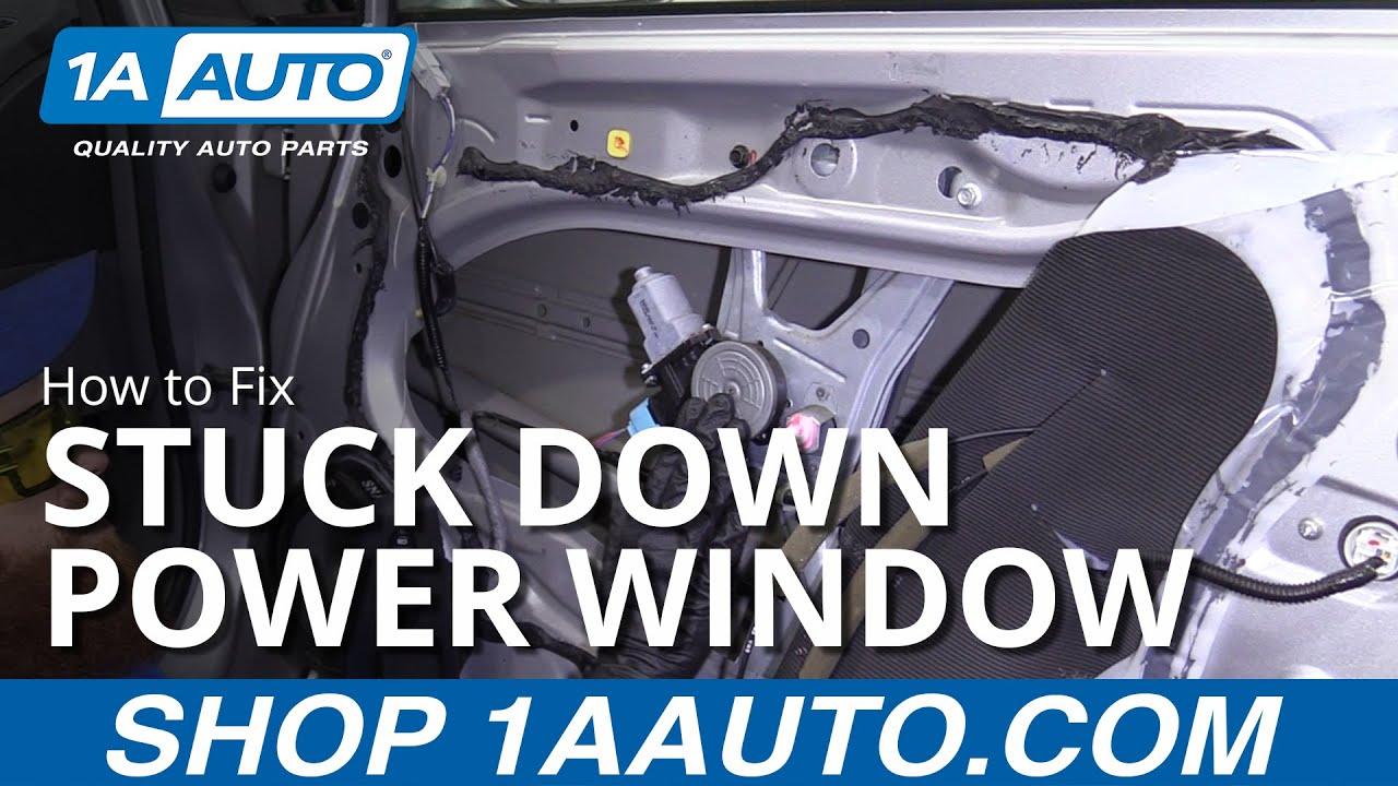 Car Window Stuck Down - How to Fix Power Window