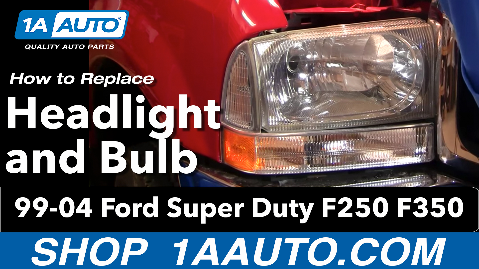 How To Replace Headlights 99 04 Ford F250 Super Duty 1a Auto