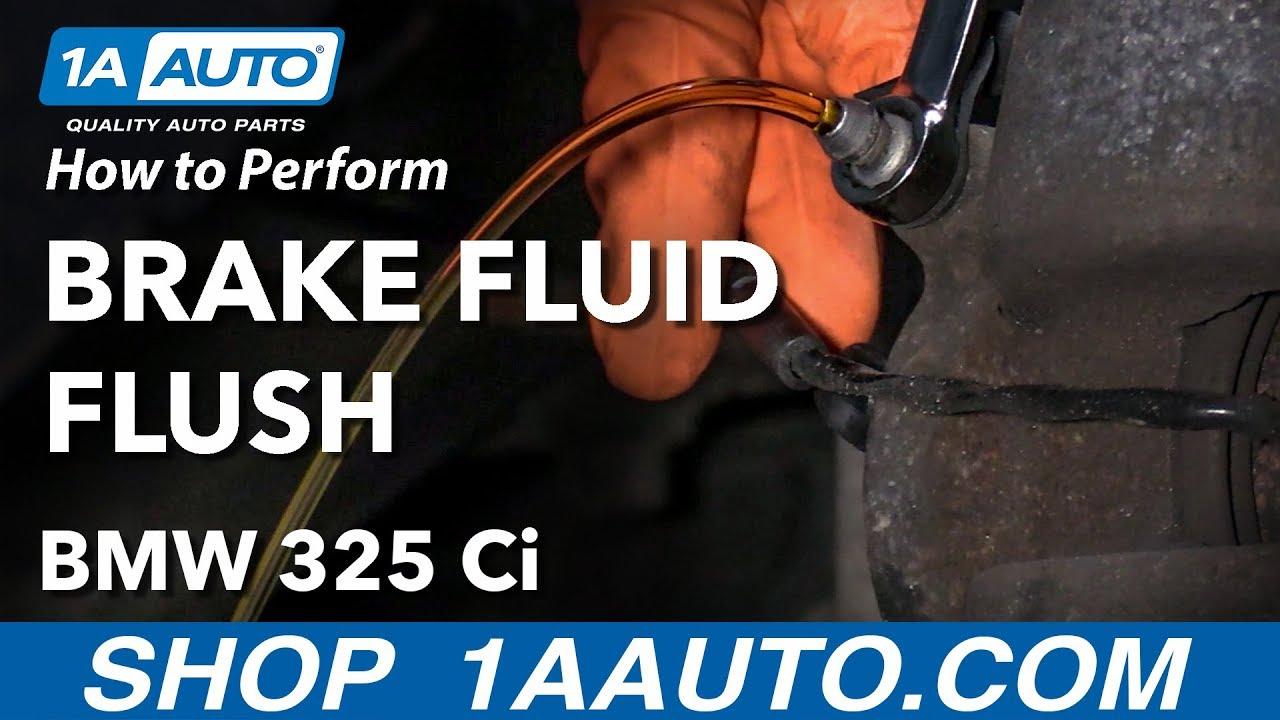 How to Perform Brake Fluid Flush 04-13 BMW 325Ci