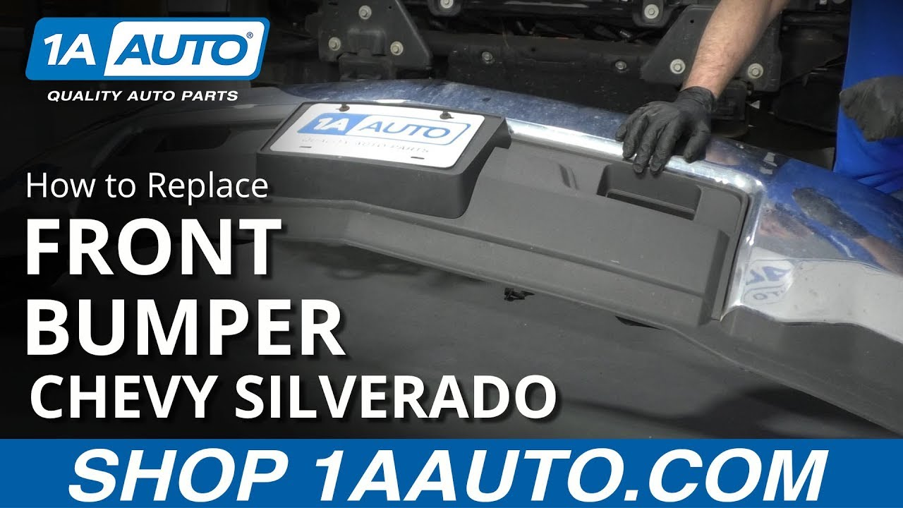 How to Remove Front Bumper 14-19 Chevy Silverado