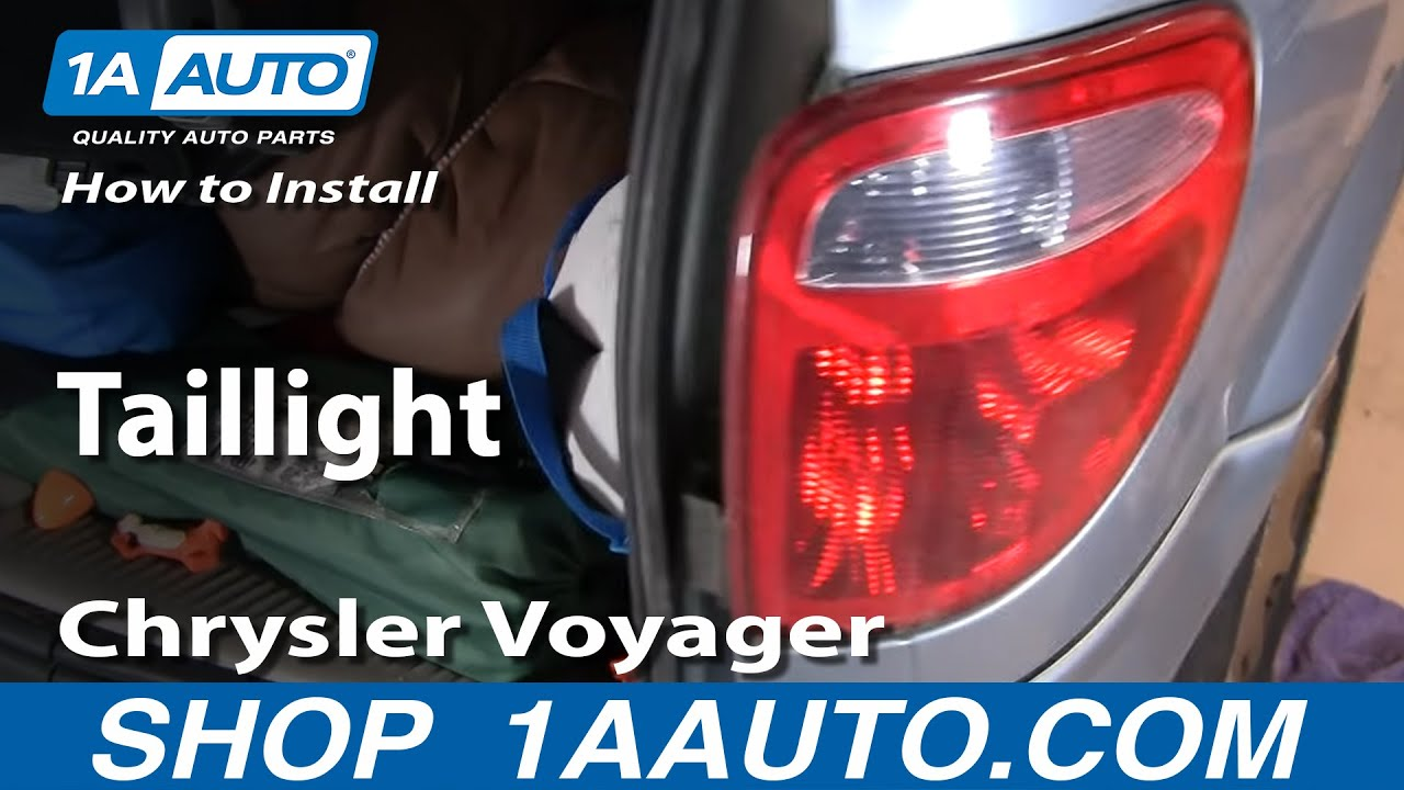 how to replace tail light 01 03 chrysler voyager 1a auto. Black Bedroom Furniture Sets. Home Design Ideas