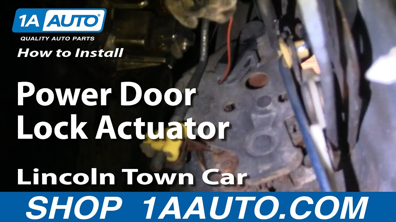 How to Replace Door Lock Actuator 98-01 Lincoln Town Car