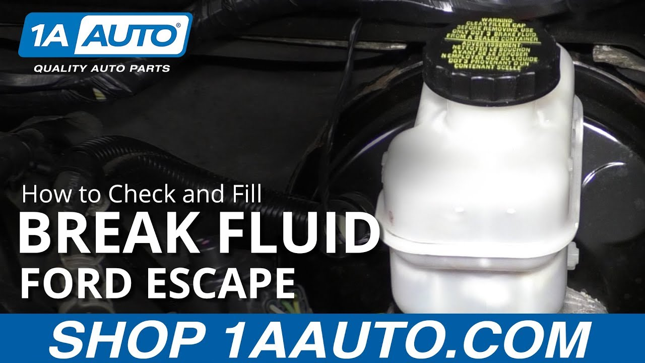 How to Check and Fill Brake Fluid 08-12 Ford Escape