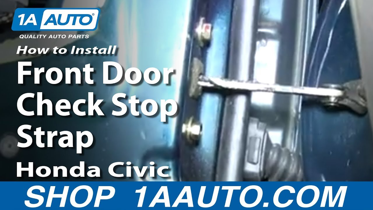 How To Replace Front Door Check 92-00 Honda Civic