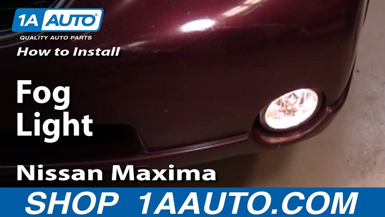 2000 nissan maxima headlight bulb replacement