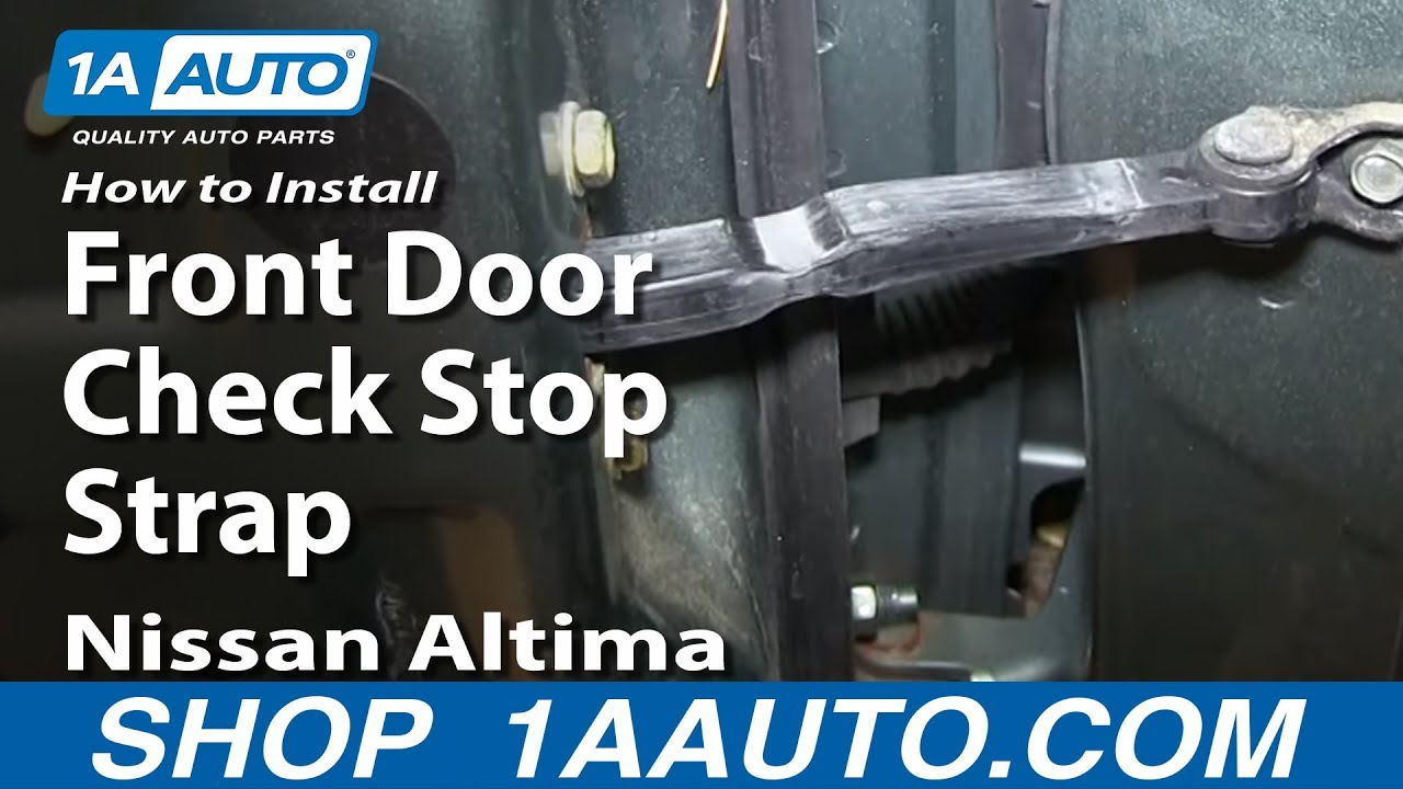 How To Replace Front Door Check Stop 02-06 Nissan Altima