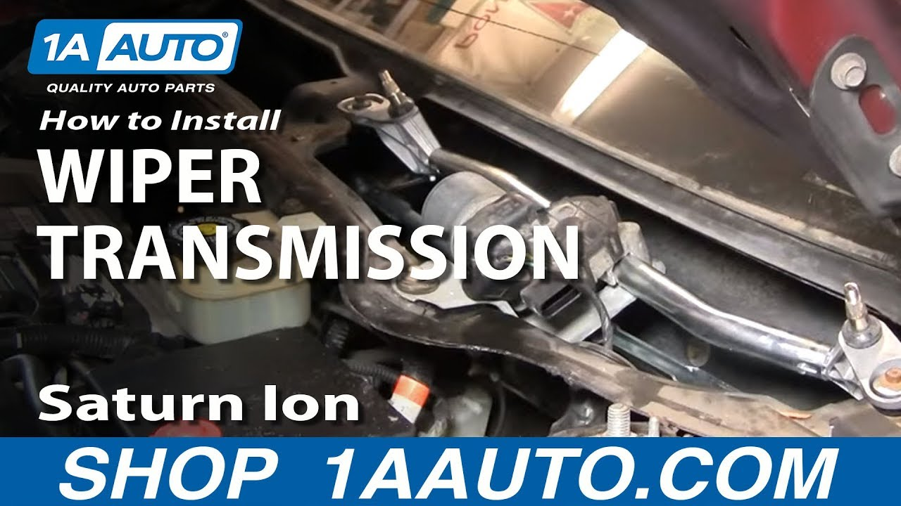 How To Replace Windshield Wiper Transmission 03-07 Saturn Ion