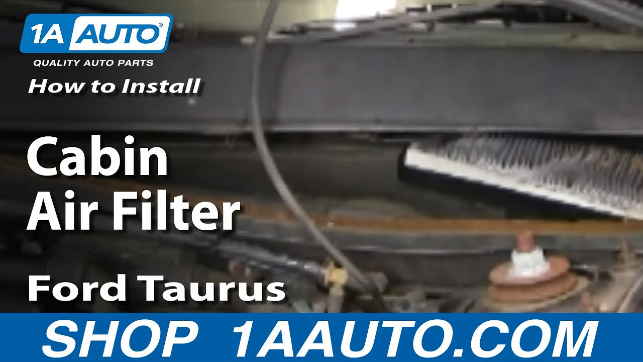 How To Replace Cabin Air Filter 96 09 Ford Taurus 1a Auto