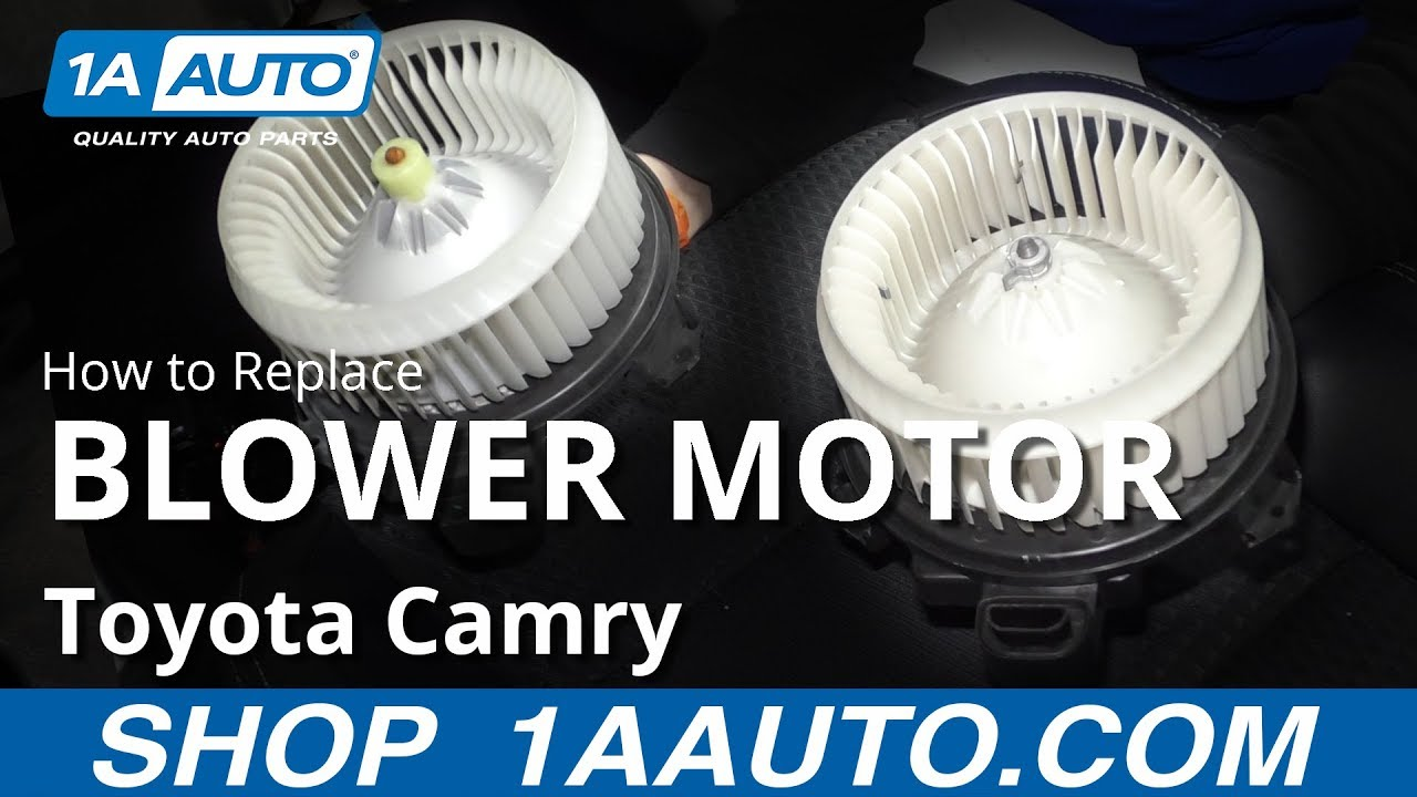 How to Replace Blower Motor 11-17 Toyota Camry