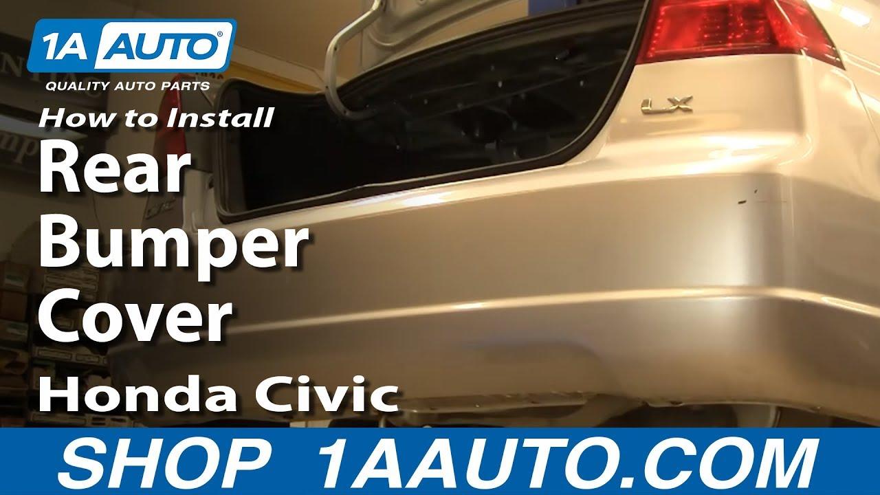 How To Remove Rear Bumper Cover 01-05 Honda Civic
