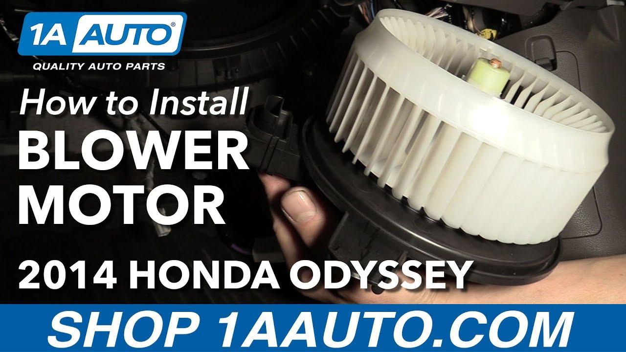 How to Heater Blower Motor 11-16 Honda Odyssey