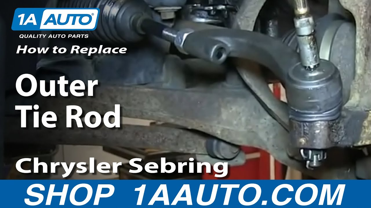 How to Replace Outer Tie Rod 01-05 Chrysler Sebring
