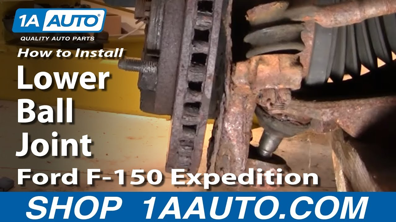 How To Replace Lower Ball Joint 97-03 Ford Expedition PART 1