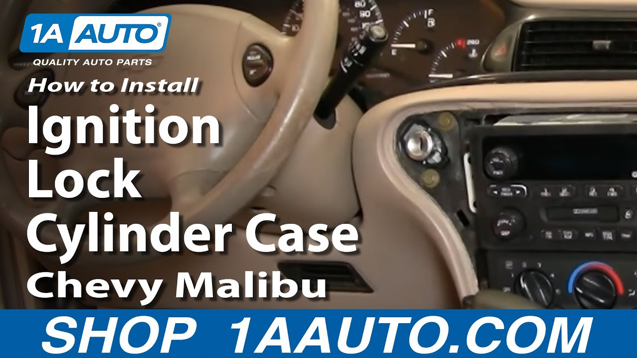 How to Replace Ignition Lock Cylinder Case Housing 97-03 Chevy Malibu