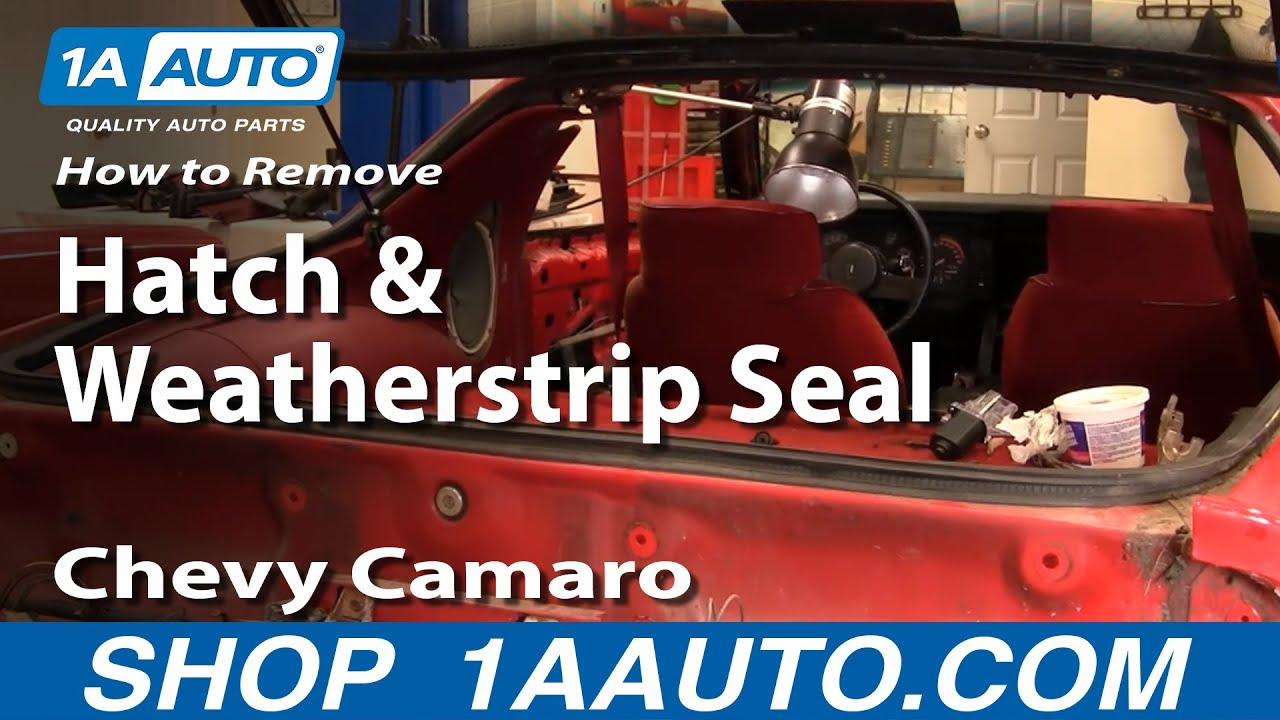 How to Replace Trunk Weatherstrip Seal w/ Adhesive 82-92 Chevy Camaro