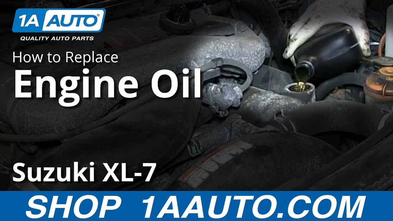 How To Do an Engine Oil Change 98-06 Suzuki XL-7
