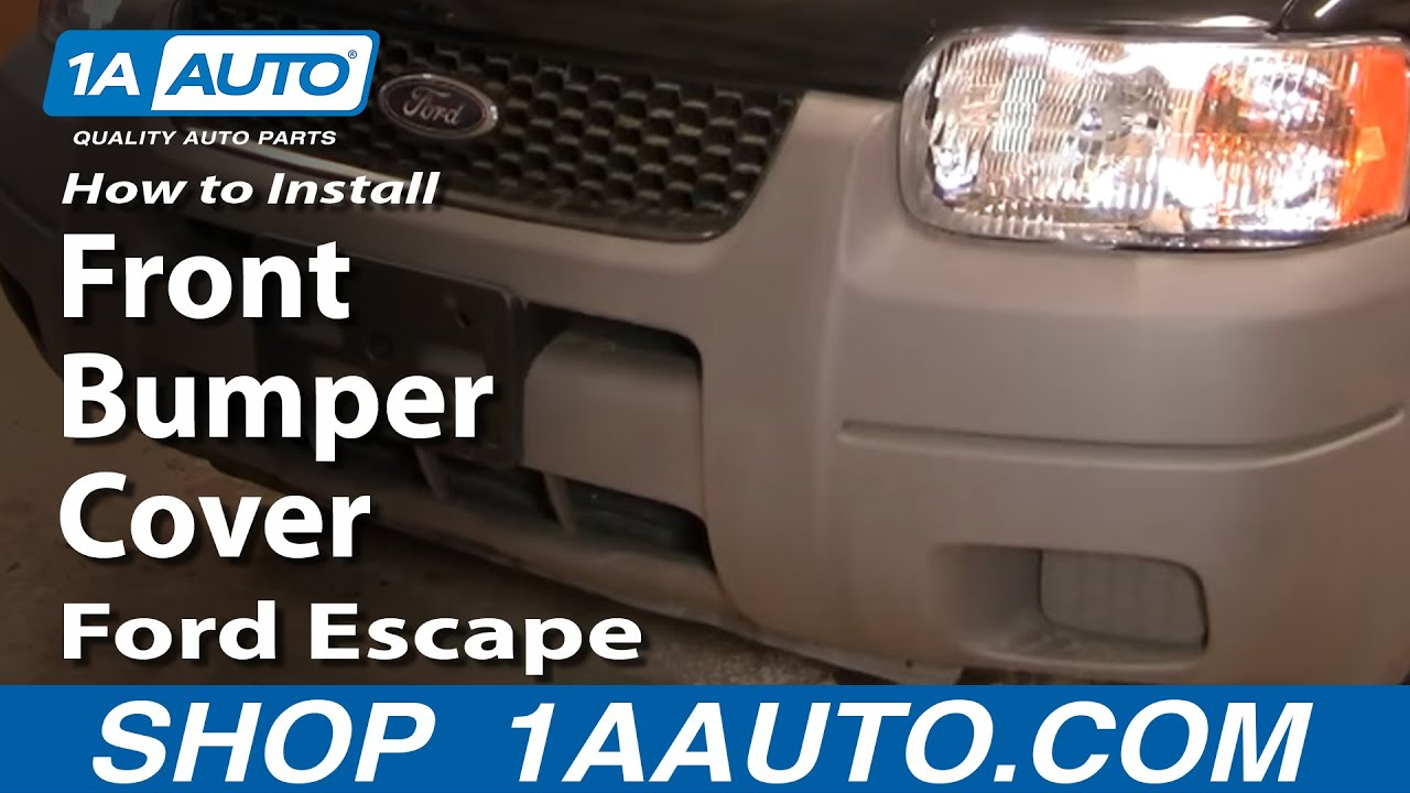 How To Replace Front Bumper Cover 01-07 Ford Escape