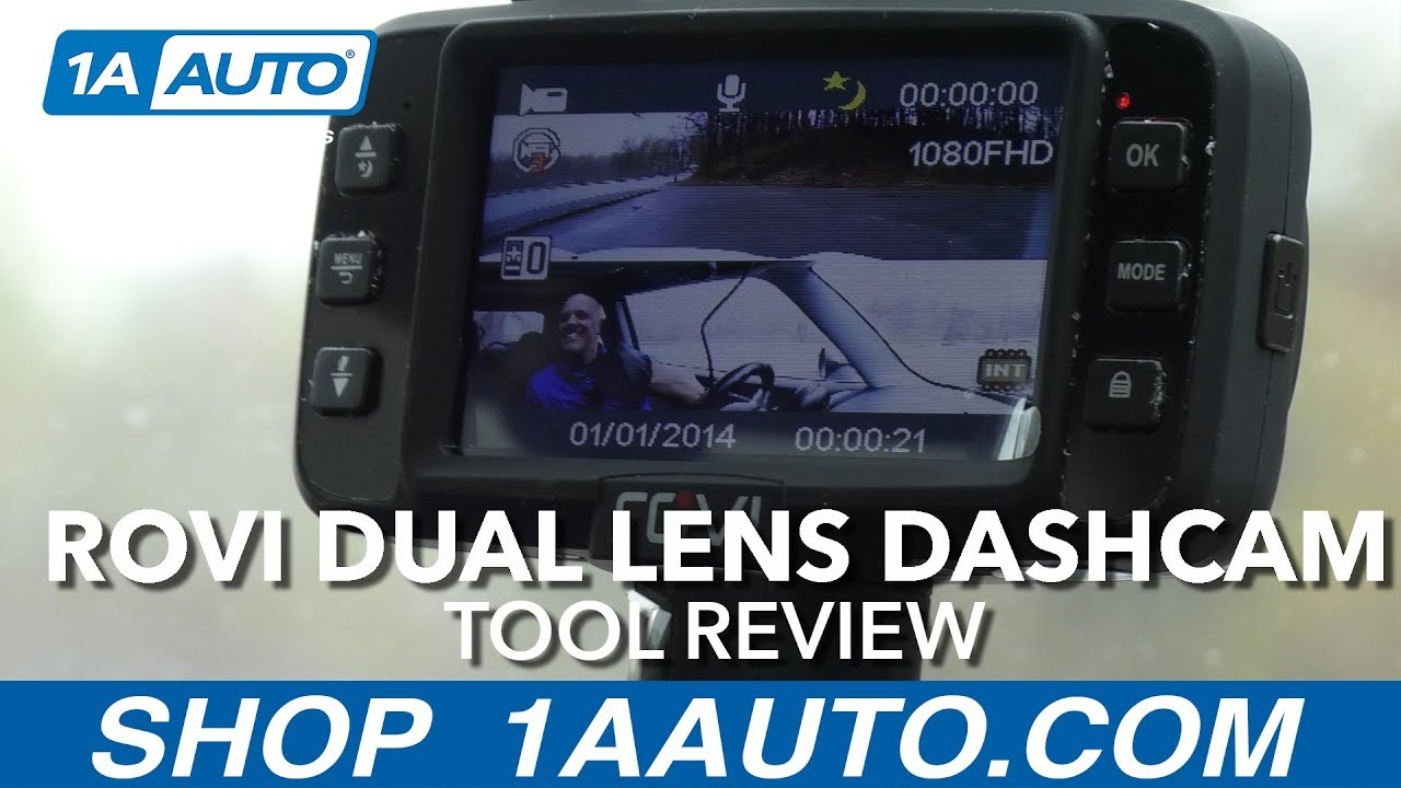Rovi Dual lens Dashcam - Available at 1AAuto.com