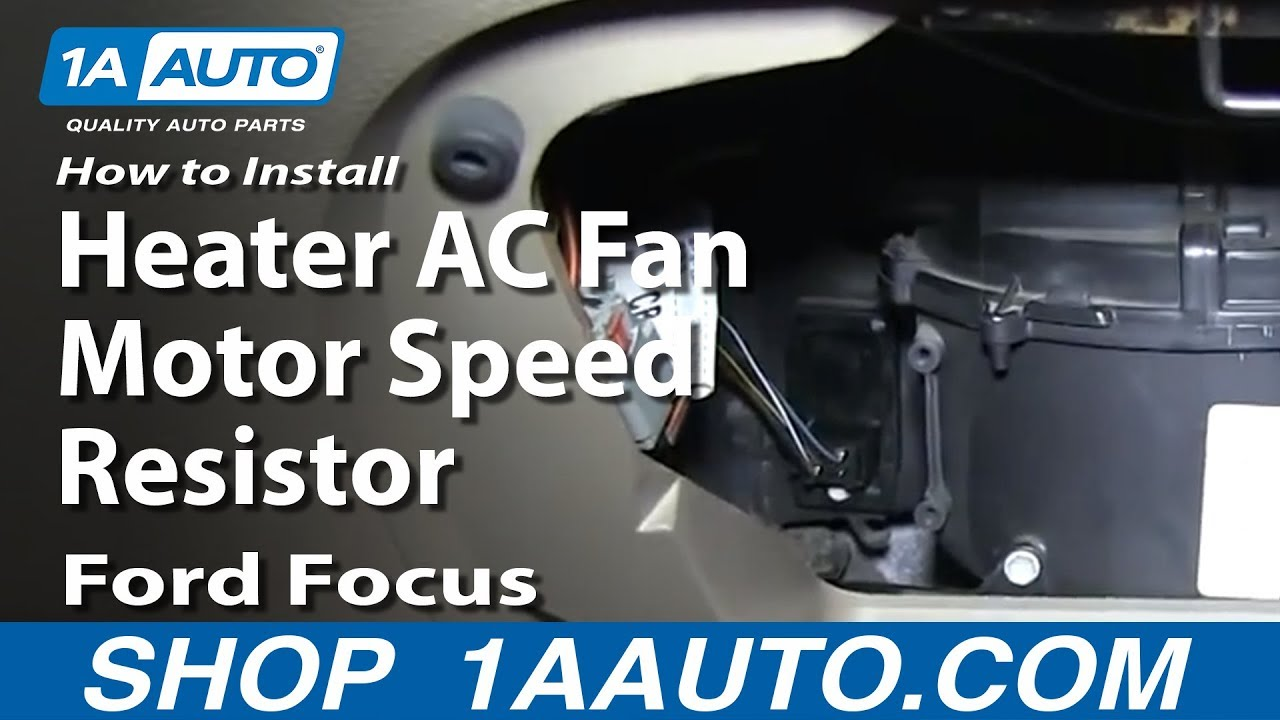How To Replace Blower Motor Resistor 00 07 Ford Focus 1a