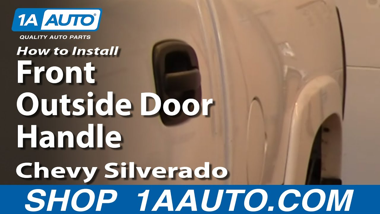 How To Replace Front Outside Door Handle 01-06 GMC Sierra