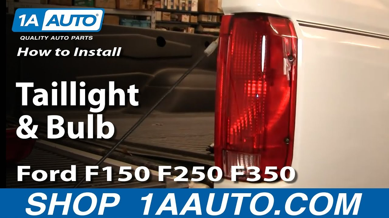 how to replace taillight and bulb ford 92 96 f150 250 350 dennis carpenter ford restoration parts