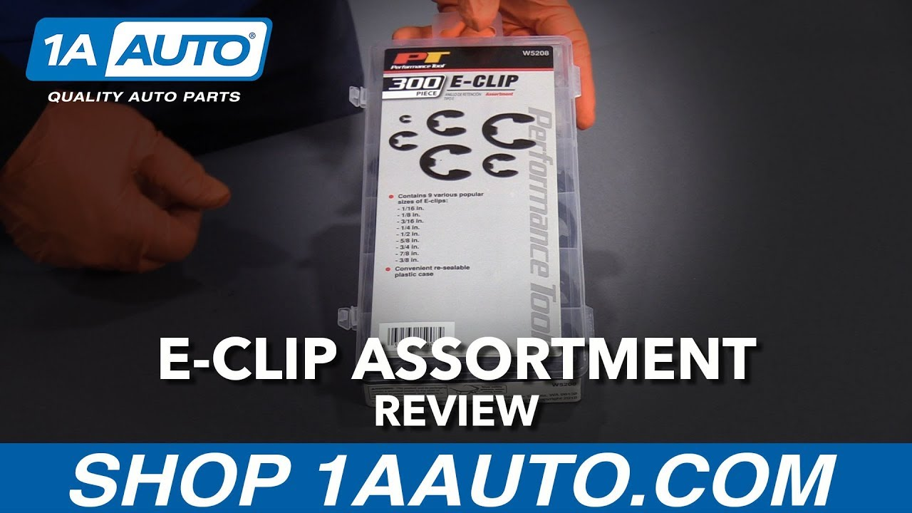 300 Piece E-Clip Assortment - Available at 1AAuto.com