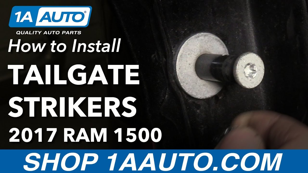 How to Replace Tailgate Strikers 11-17 Ram 1500
