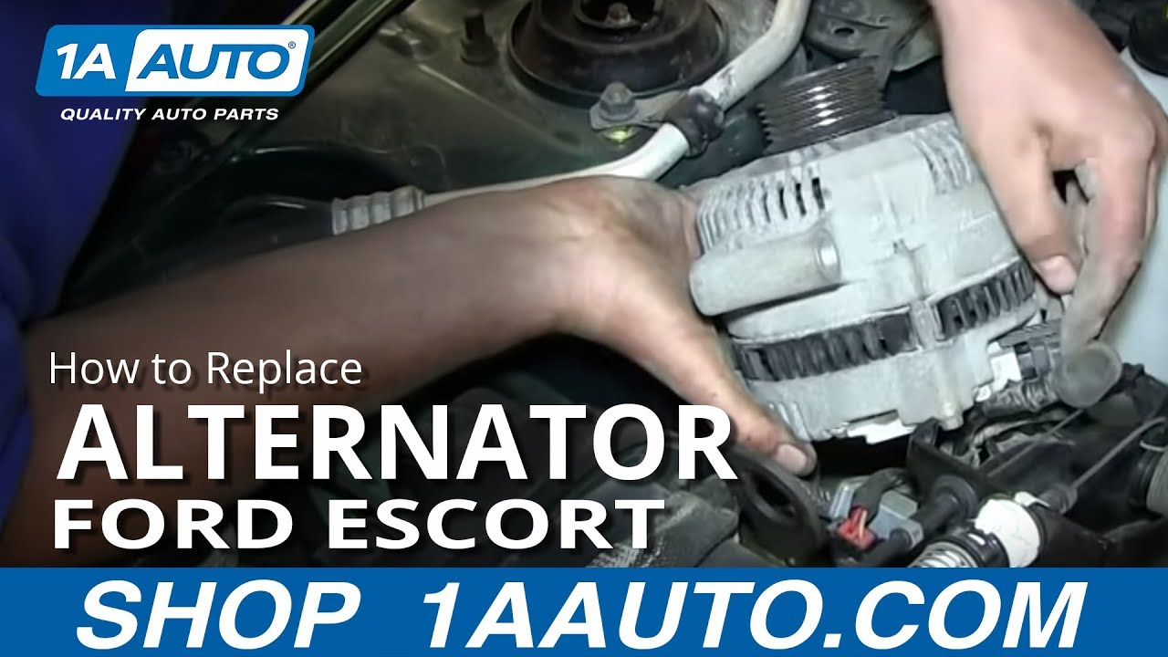 How to Replace Alternator 98-03 Ford Escort