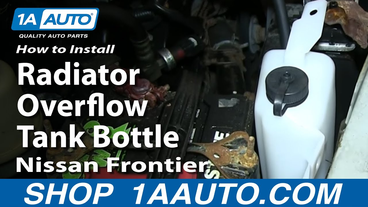 How to Replace Radiator Overflow Bottle 98-04 Nissan Frontier