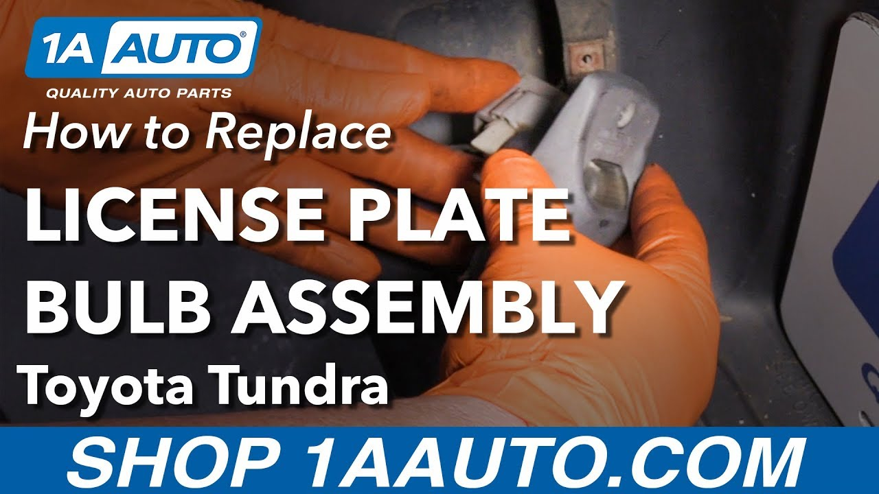 How to Replace License Plate Bulb Assembly 03-06 Toyota Tundra