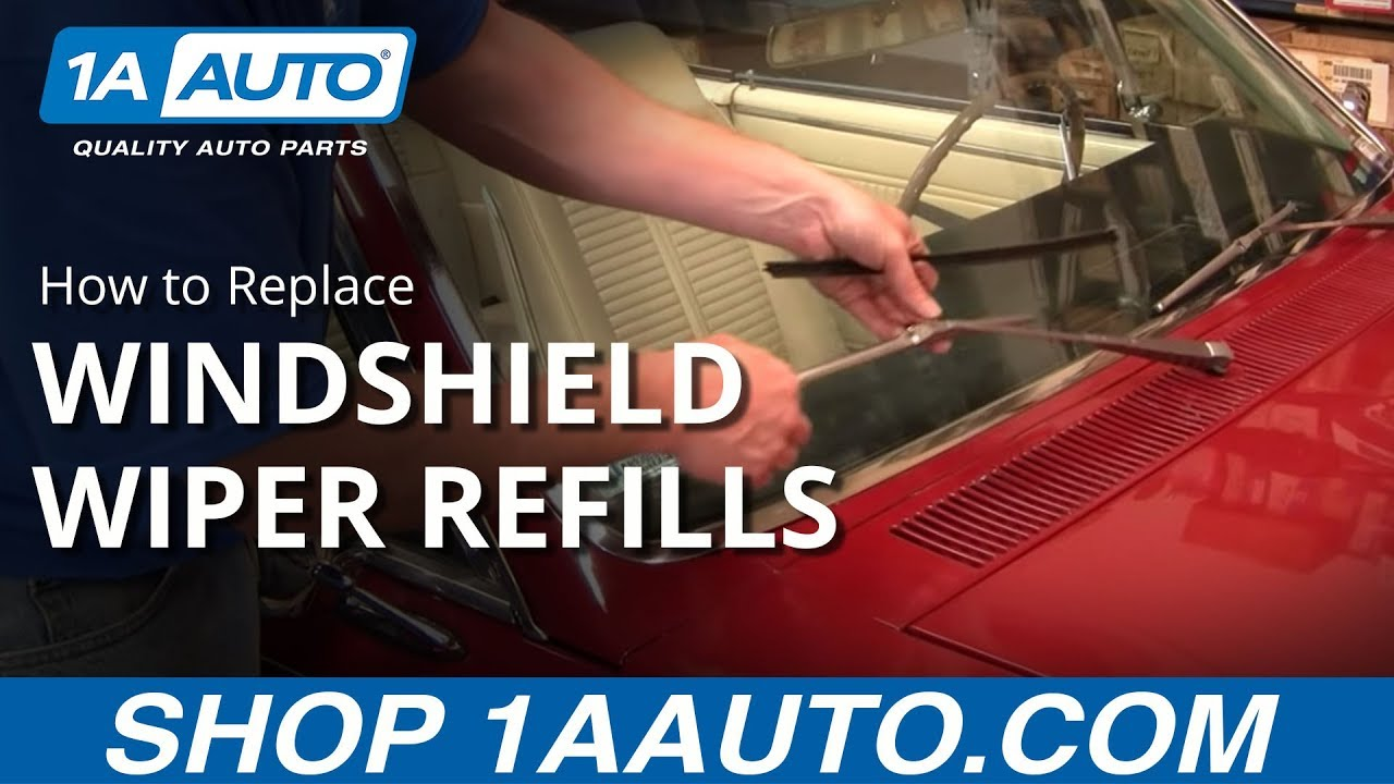 How To Replace Change Windshield Wiper Blades Refills