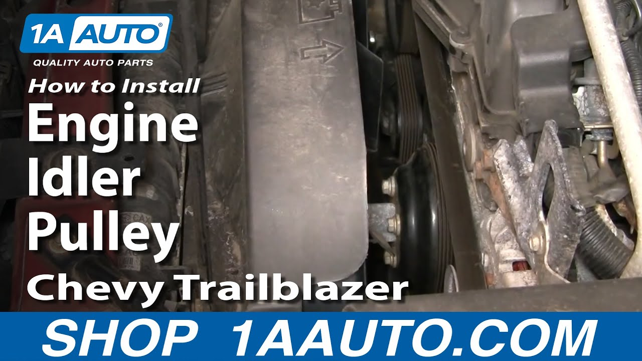 How To Replace Engine Idler Pulley 02-09 Chevy Trailblazer