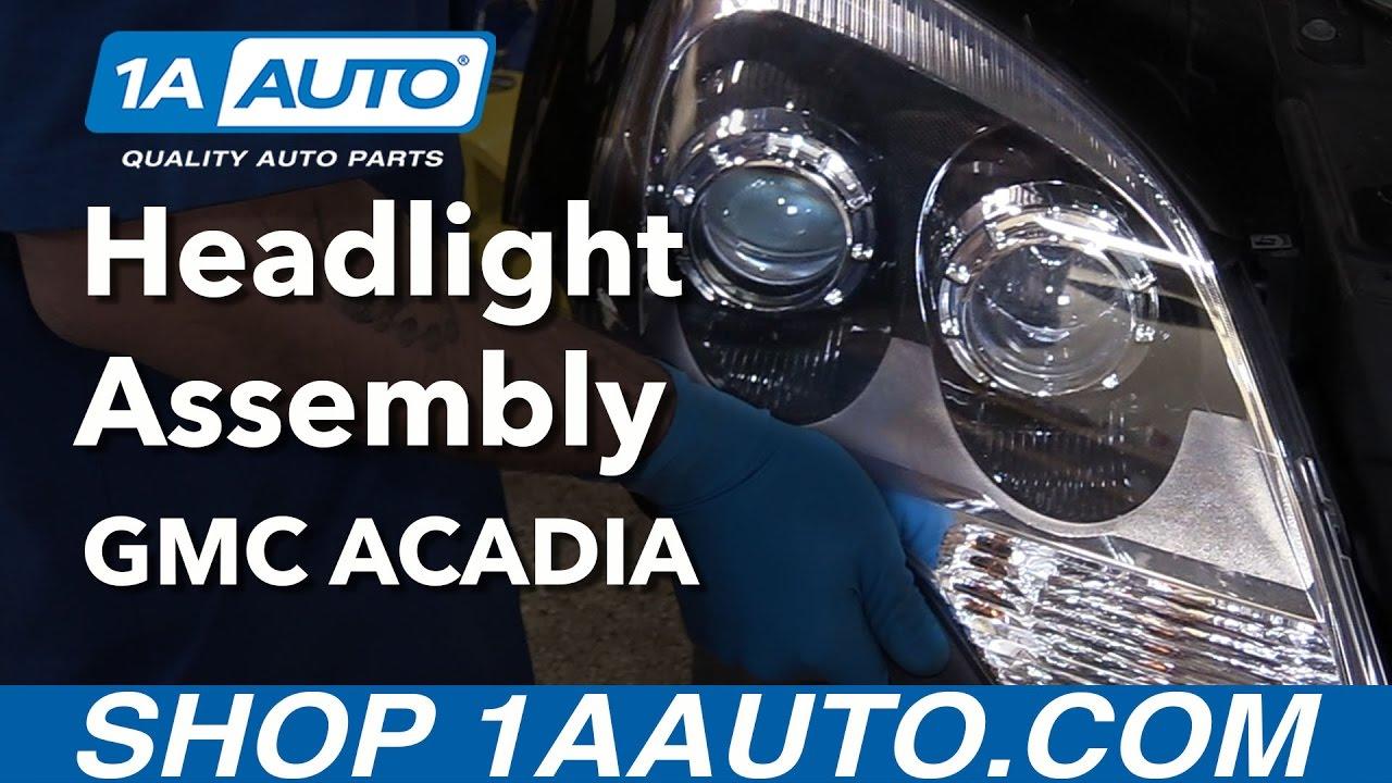 How to Replace Headlights 10-12 GMC Acadia Gmc Acadia Headlight Wiring Harness on