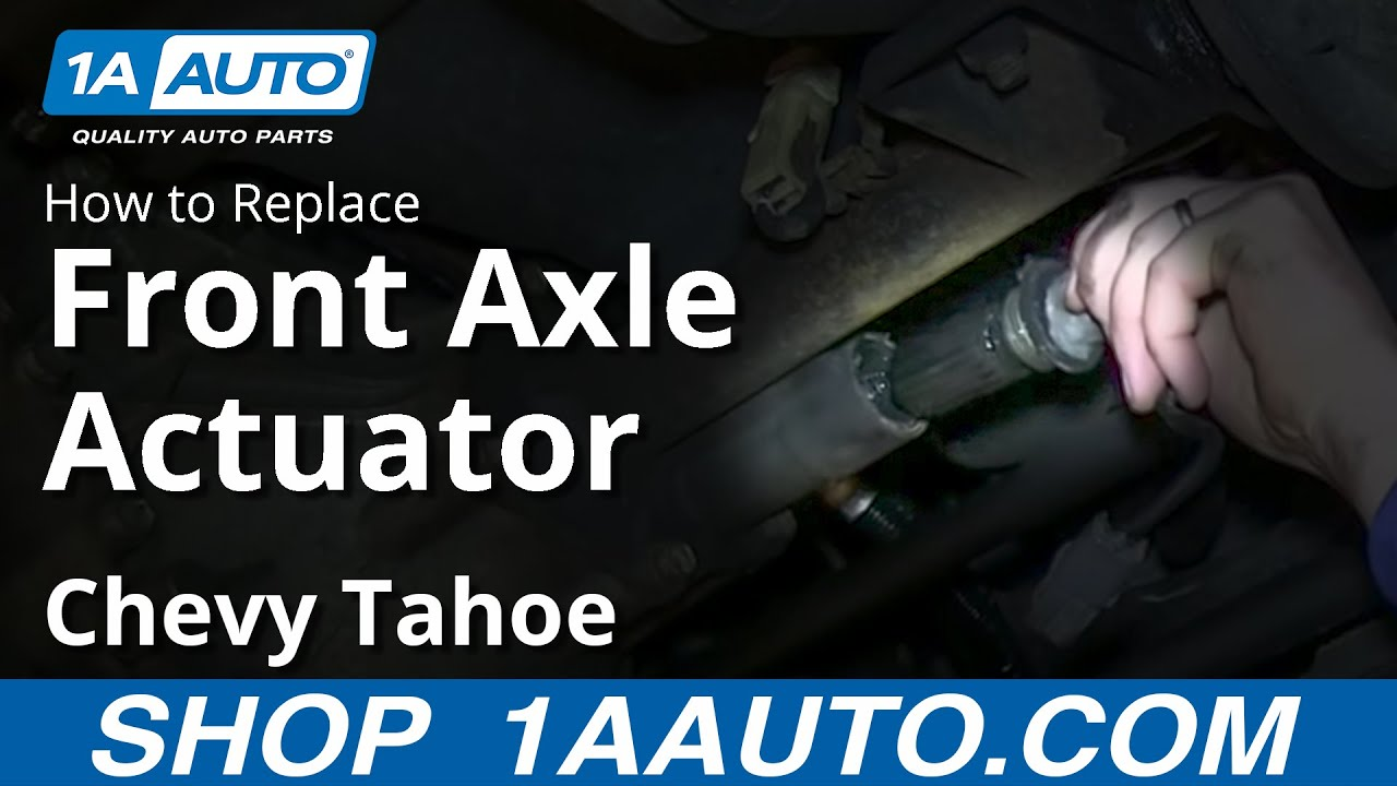 How to Replace Axle Shift Actuator 95-96 Chevy Tahoe