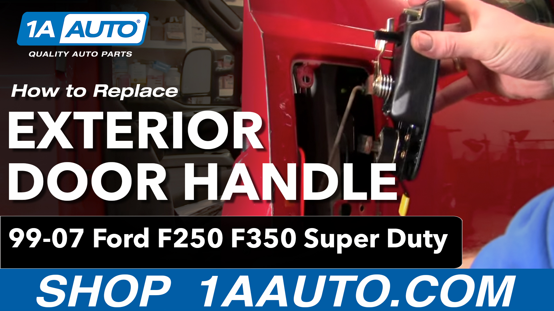 How To Replace Exterior Door Handle 99 15 Ford F250 Super Duty 1a Auto