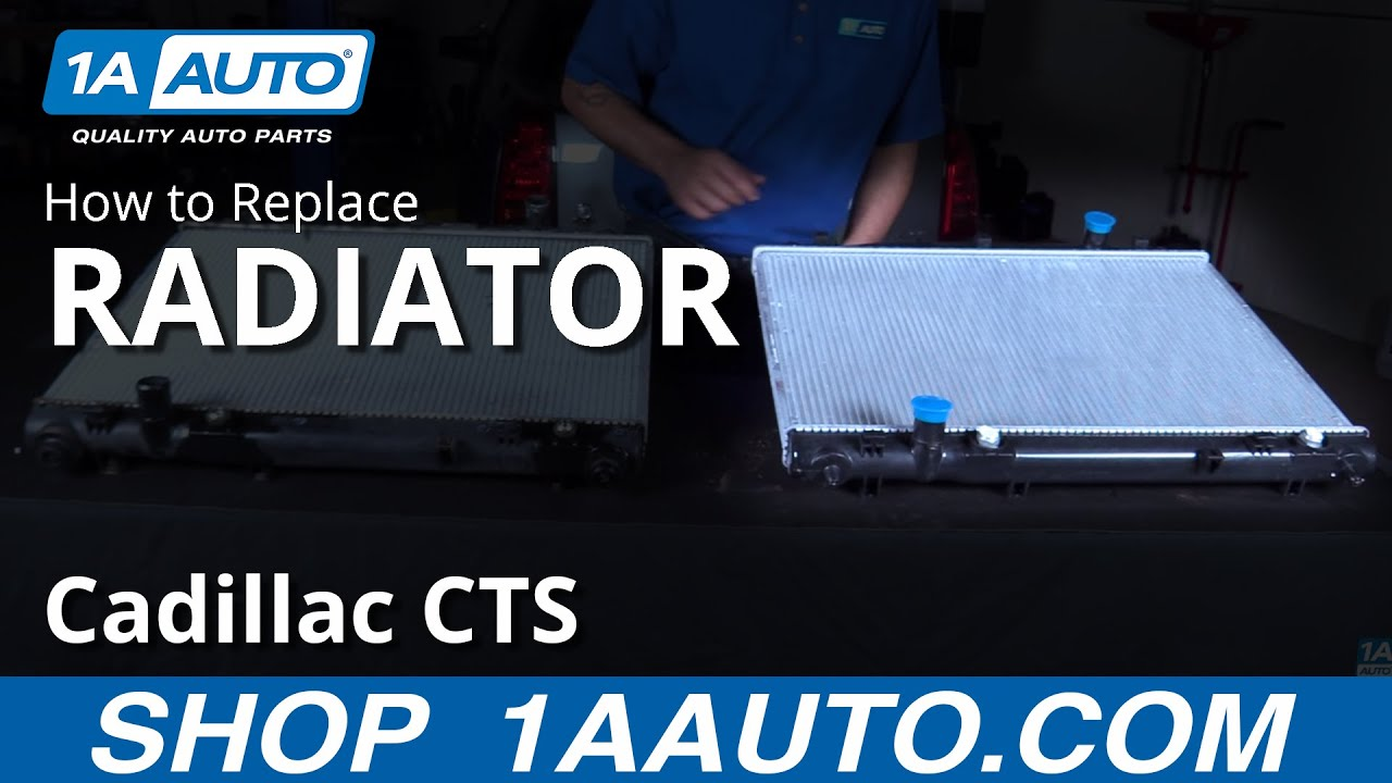 How to Replace Radiator 04-06 Cadillac CTS