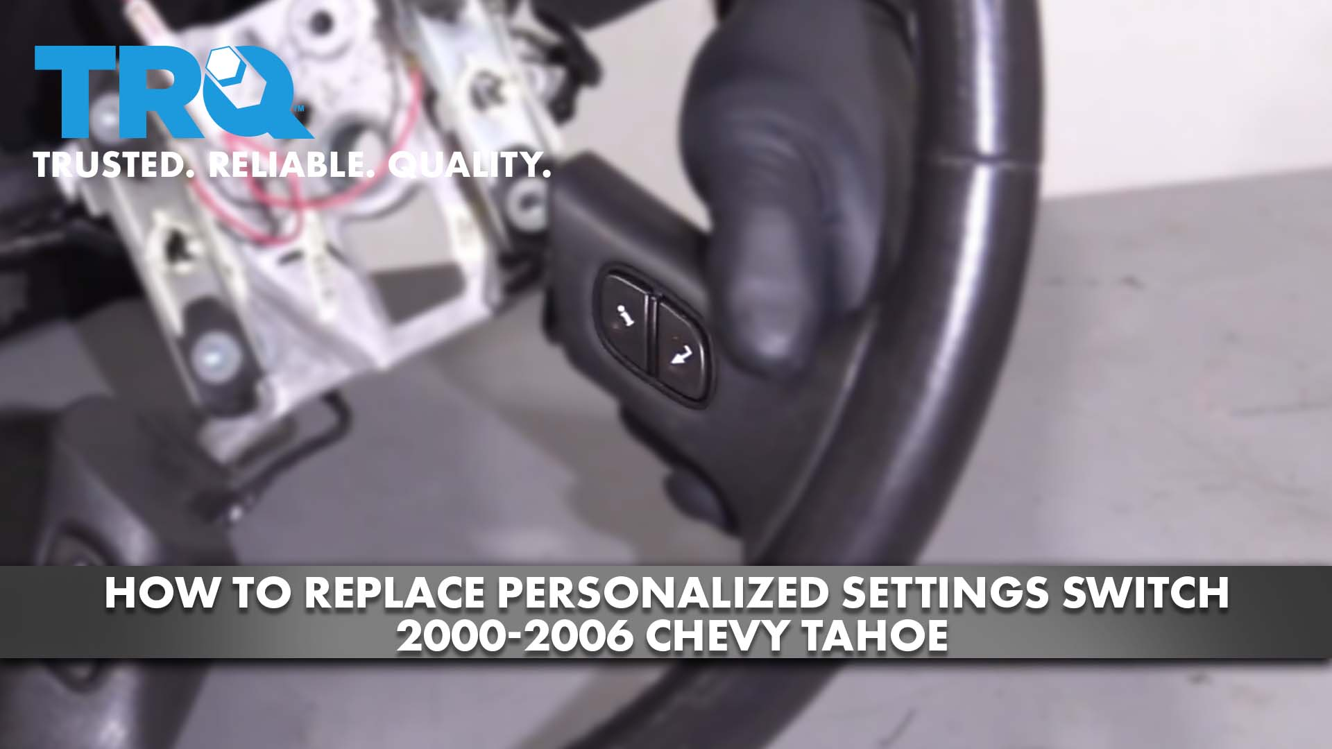 How To Replace Personalized Settings Switch 2000-06 Chevy Tahoe