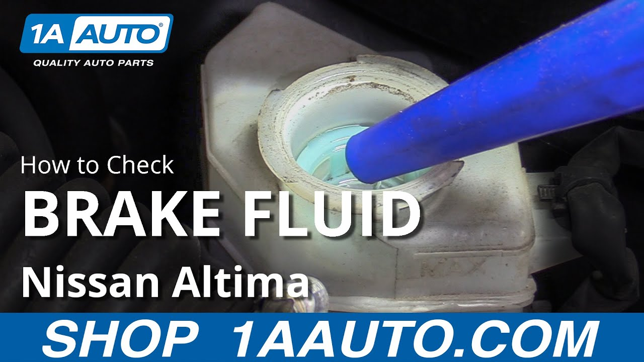 How to Check Brake Fluid 06-12 Nissan Altima