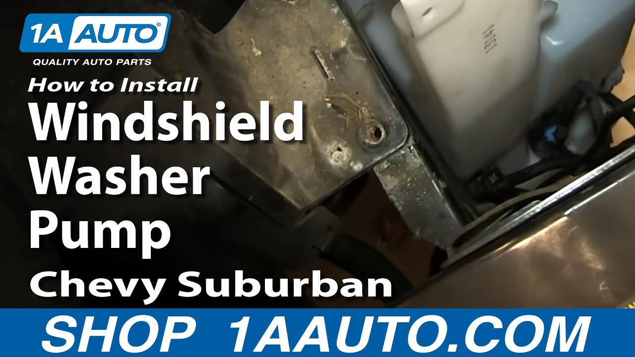 How to Replace Windshield Washer Pump 00-06 Chevy Suburban