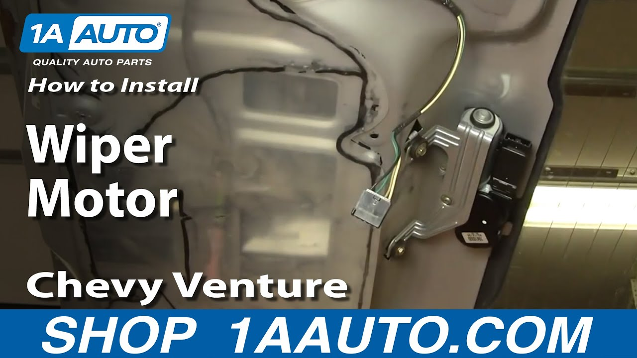 How to Replace Rear Windshield Wiper Motor 97-05 Chevy Venture