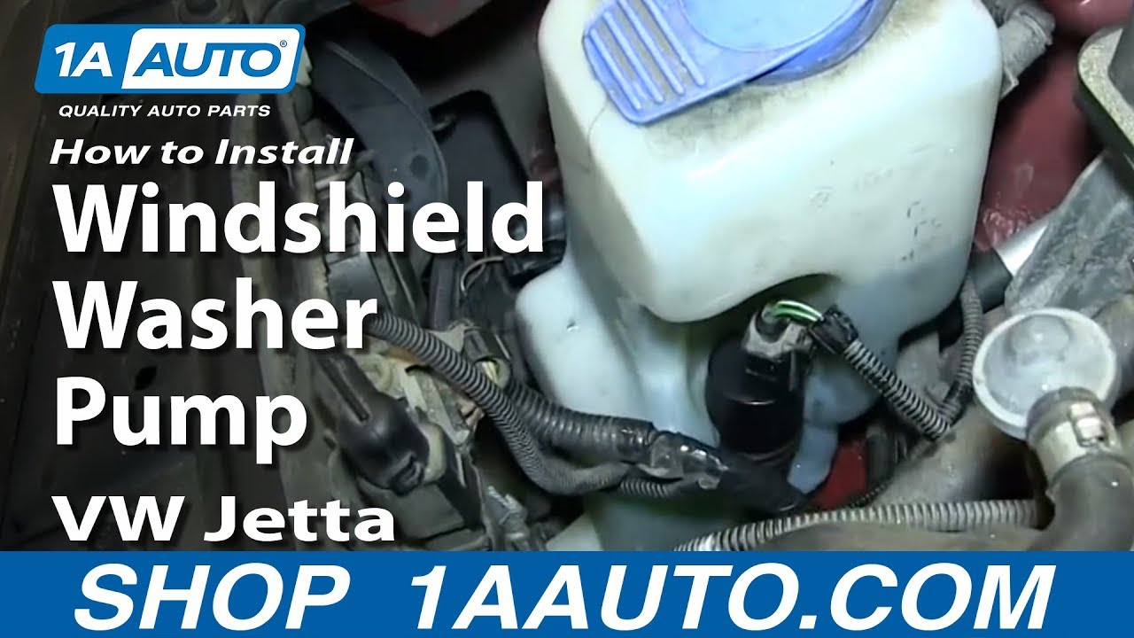 How To Replace Windshield Washer Pump 99 05 Volkswagen