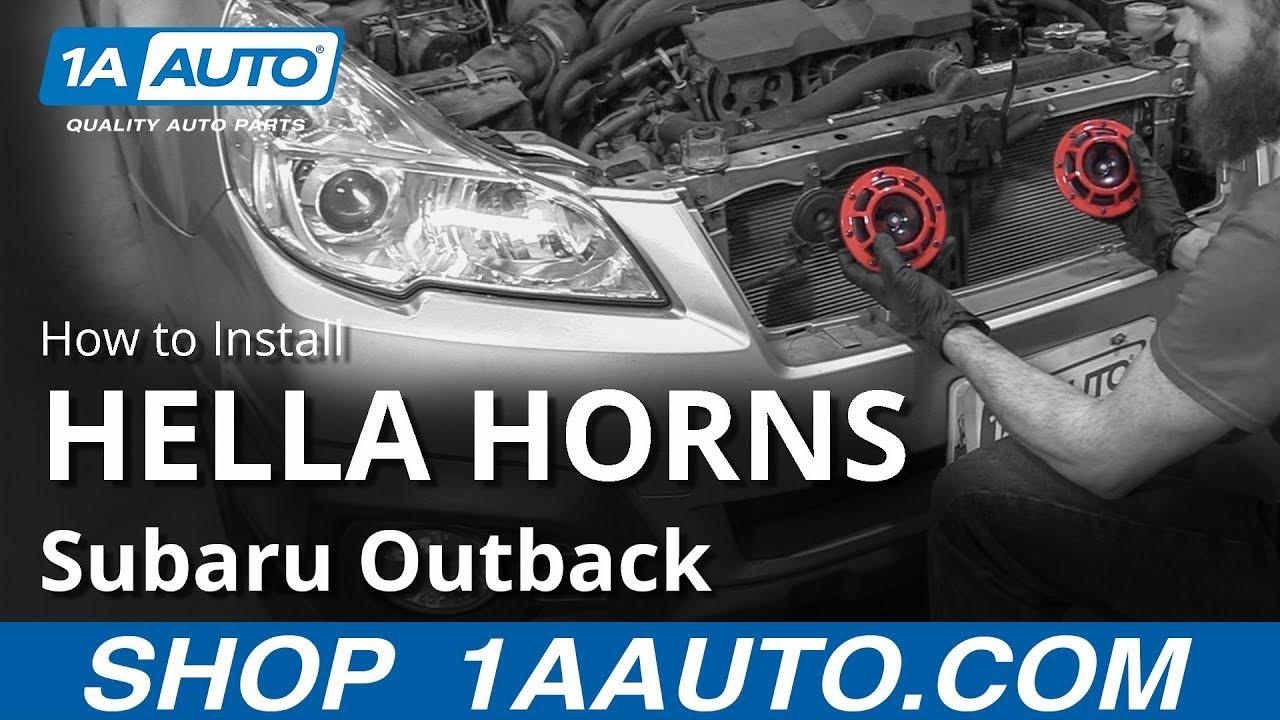 How to Install HELLA Horns 10-14 Subaru Outback