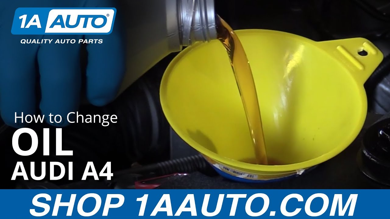 How to Change Engine Oil 05-09 Audi A4