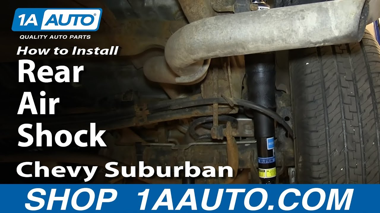 How To Replace Rear Air Shocks 00-14 Chevy Suburban